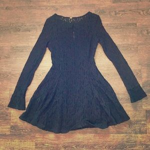 Free people Black Lace Women Dress M